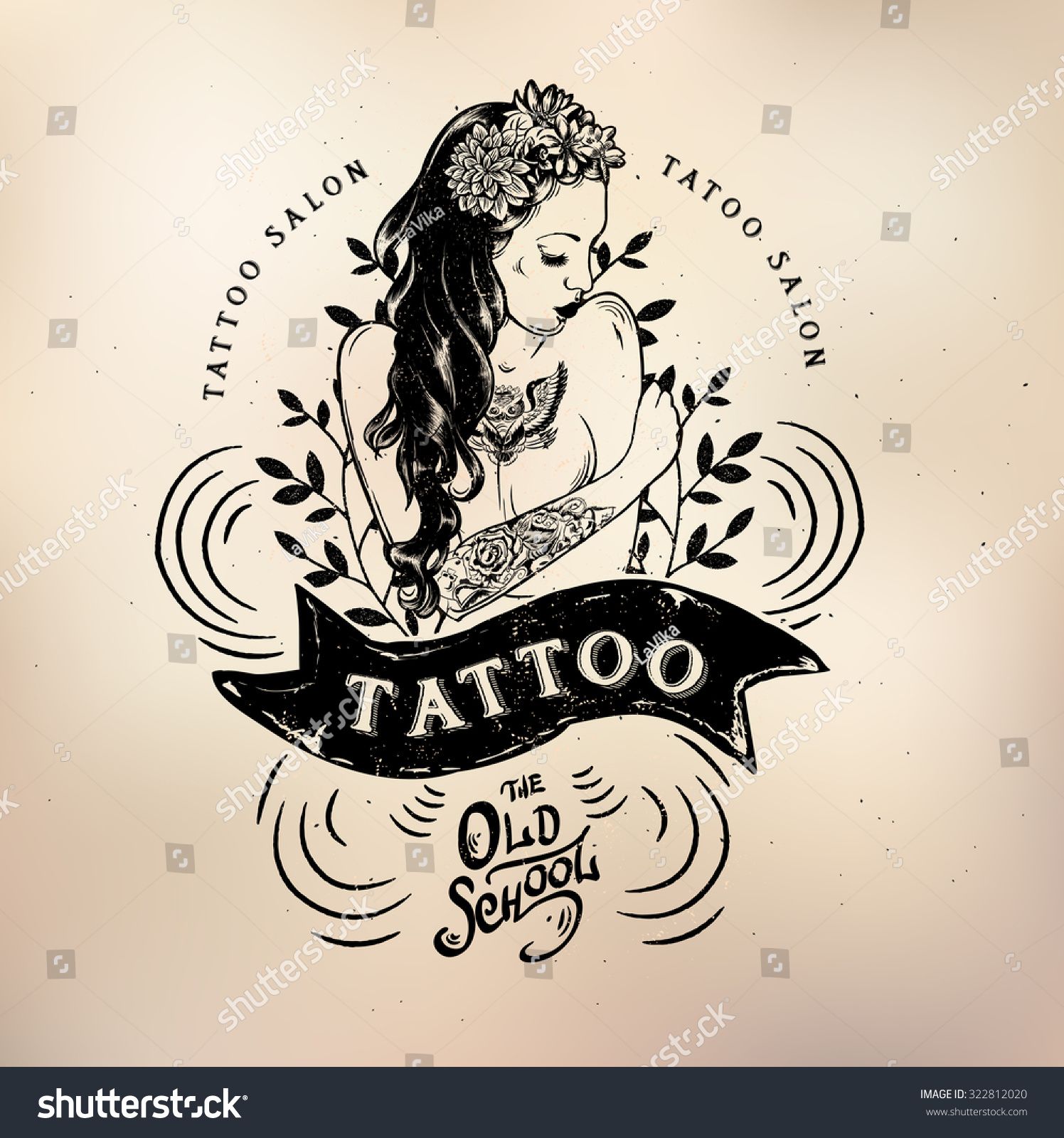 Cool Tattoo Backgrounds: Vector Tattoo Studio Logo Templates On Stock Vector