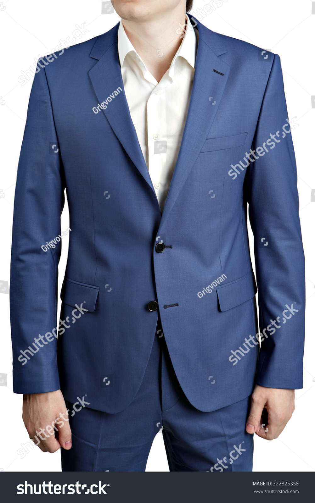 Colors Ocean Blue Stylish Mens Suit Stock Photo 322825358 ...