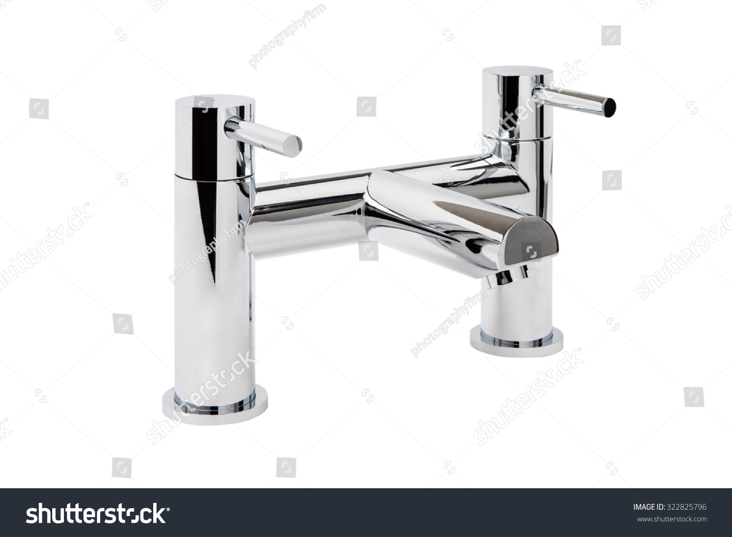 Chrome Bathroom Taps Shower Hose On Stock Photo (Royalty Free ...