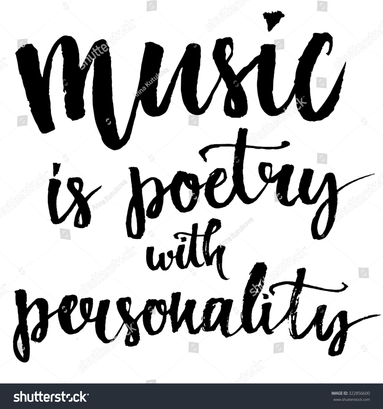 Music Is A Poetry With Personality Inspirational Quote