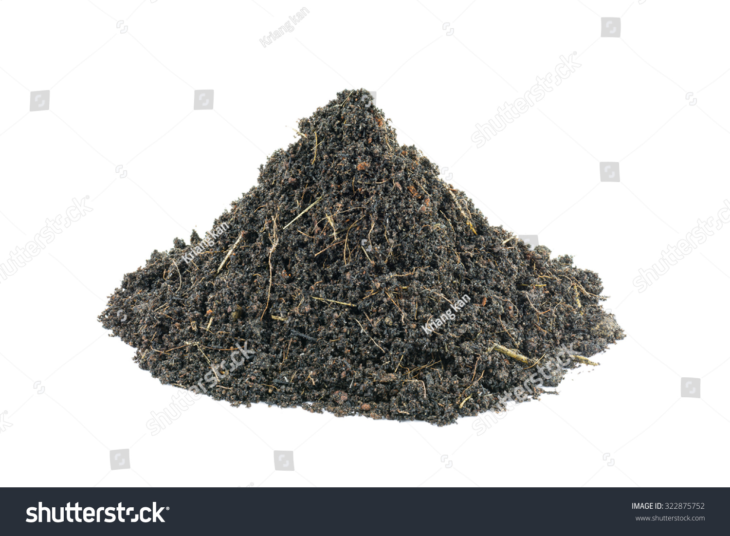 Mound soil growing plants mixture rich stock photo for What is soil a mixture of