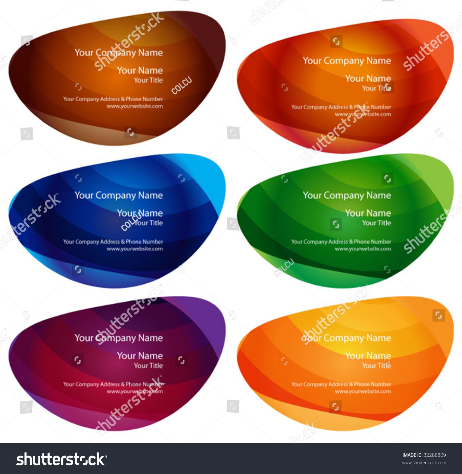 Business Card Set Standard Size Stock Vector Shutterstock