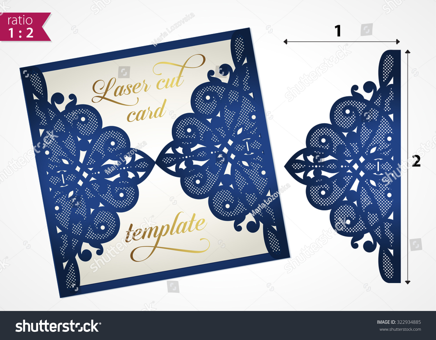 free laser cutter templates - die cut wedding invitation card template stock vector