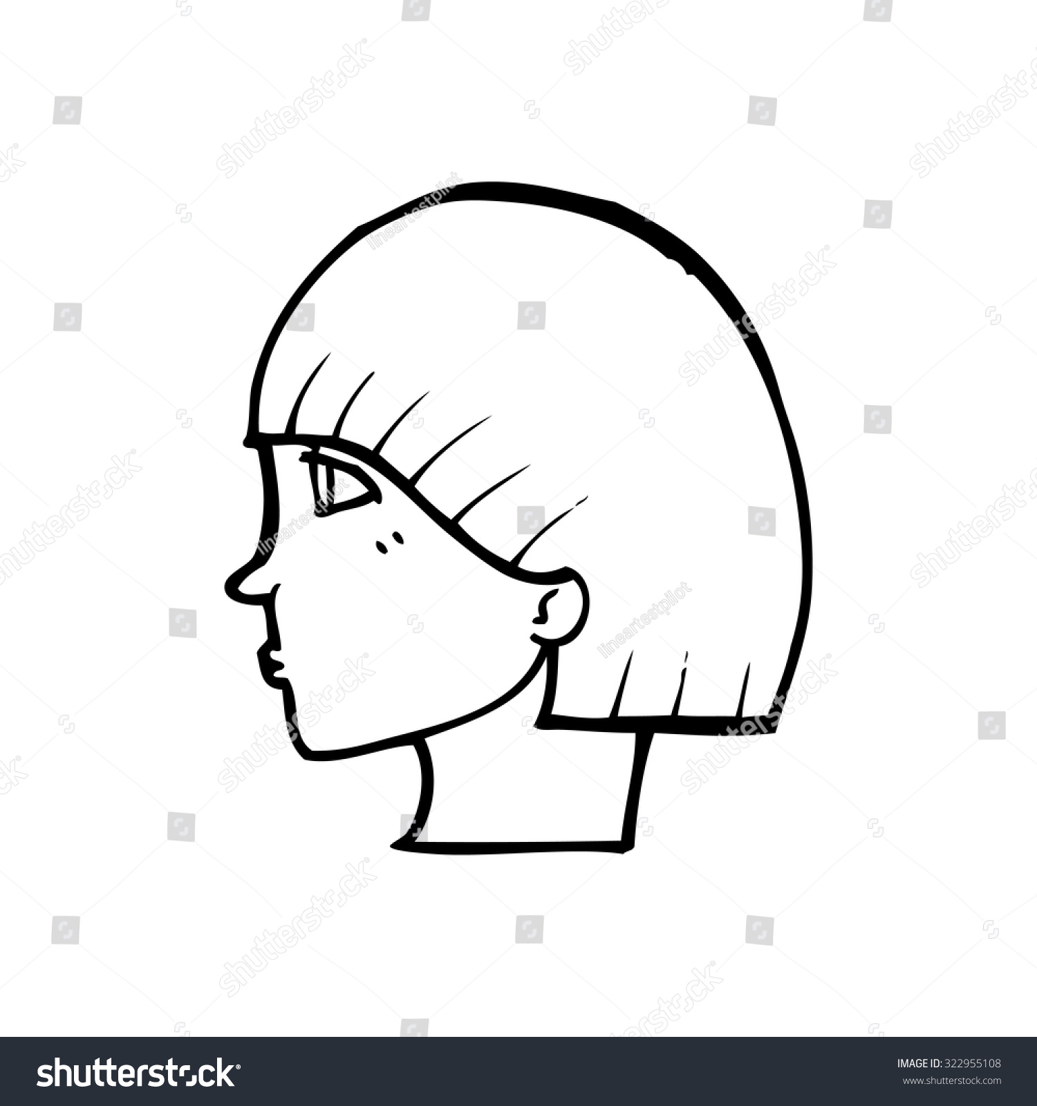 simple black white line drawing cartoon stock vector royalty free