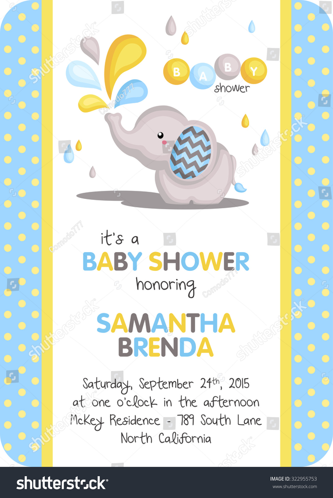 in elephant turquoise or baby invitations polka blue girl pink neutral invitation dot products shower gender boy