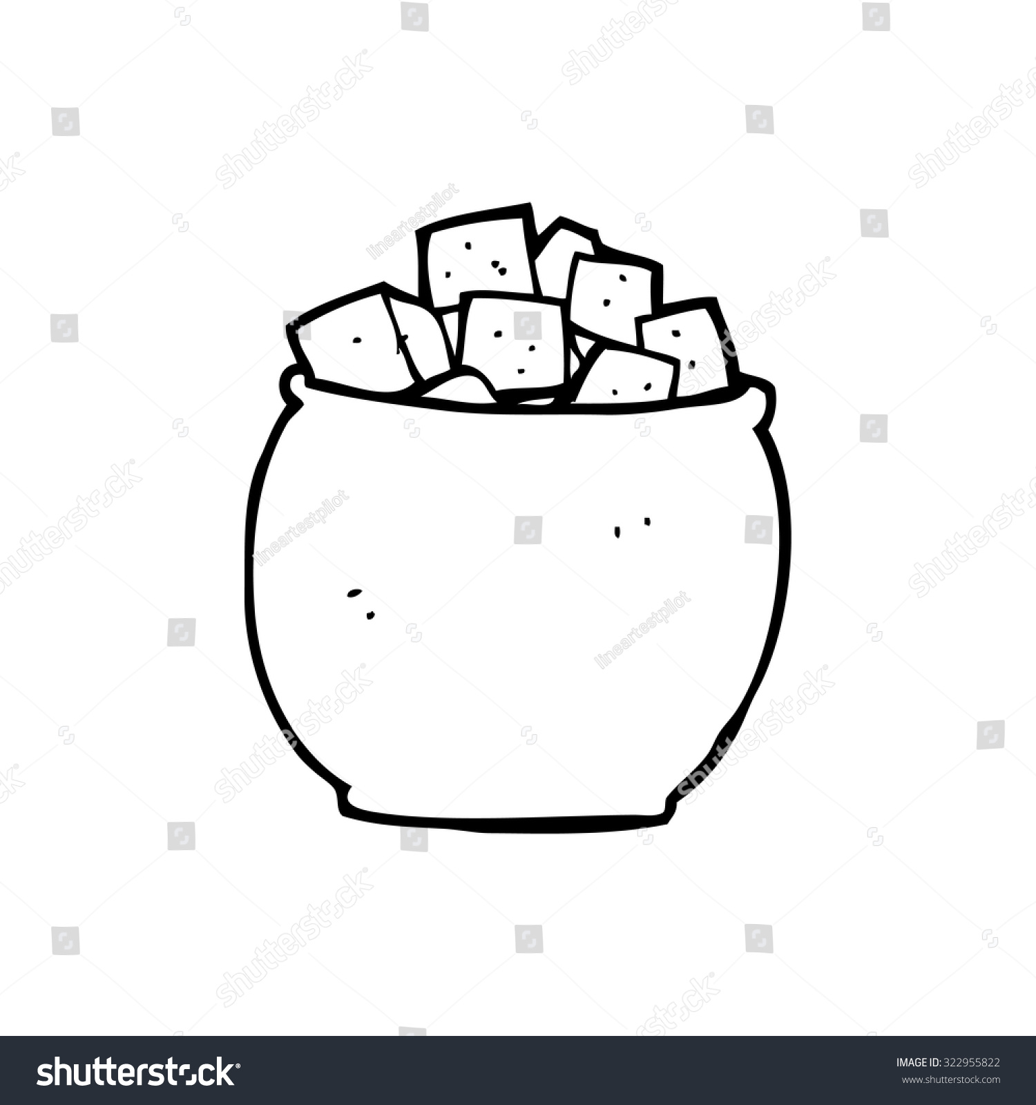 Simple Black And White Line Art : Simple black white line drawing cartoon stock vector