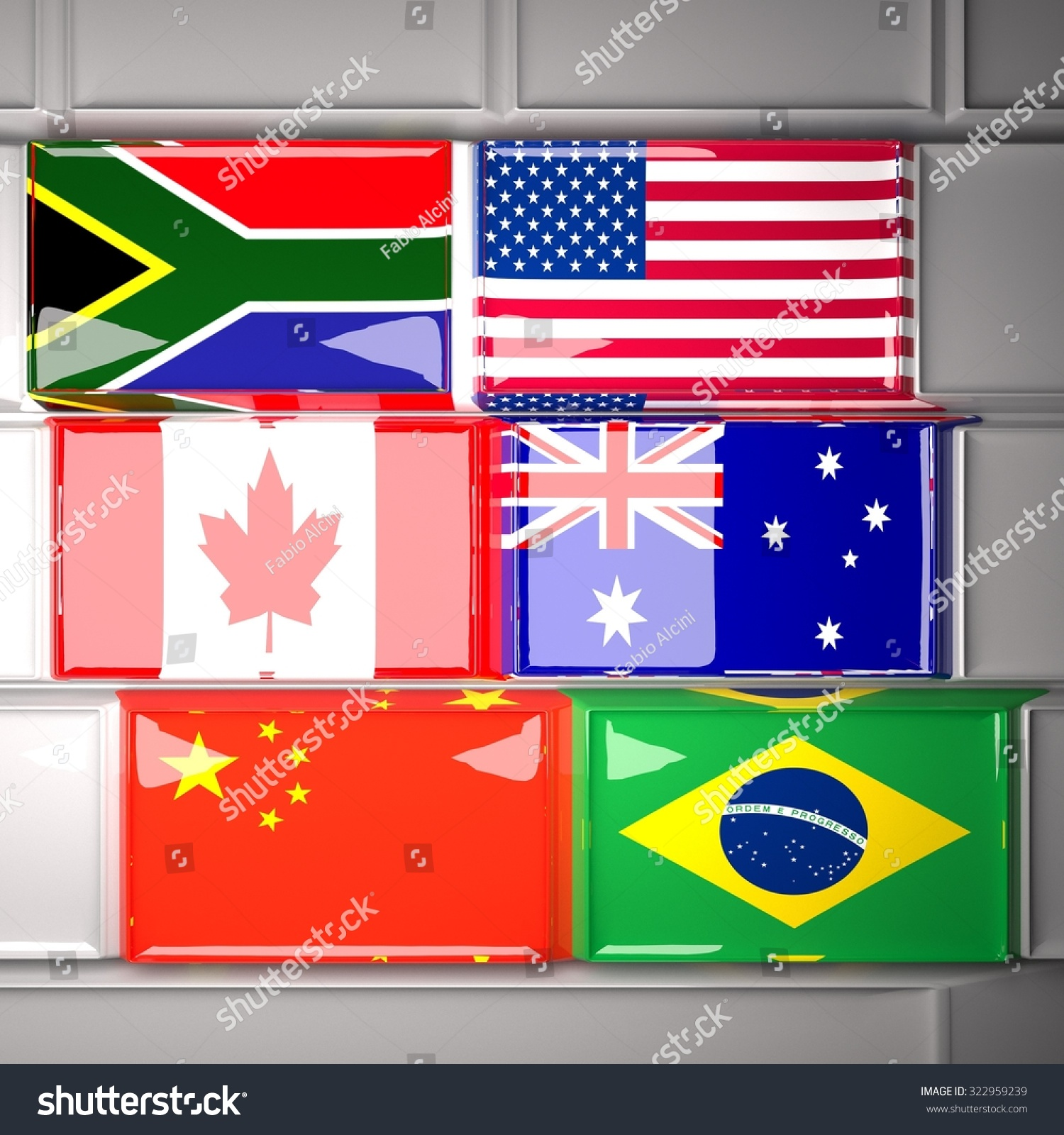 Keyboard World Flags South Africa Usa Stock Illustration 322959239