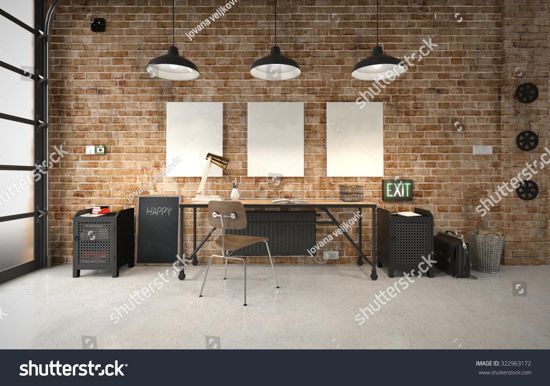 Commercial Office Industrial Interior Stock Illustration 322963172 Shutterstock
