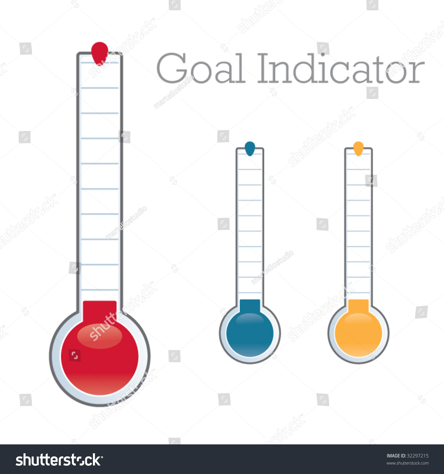 Thermometer Graphic Showing Progress Towards Fundraiser Stock ...