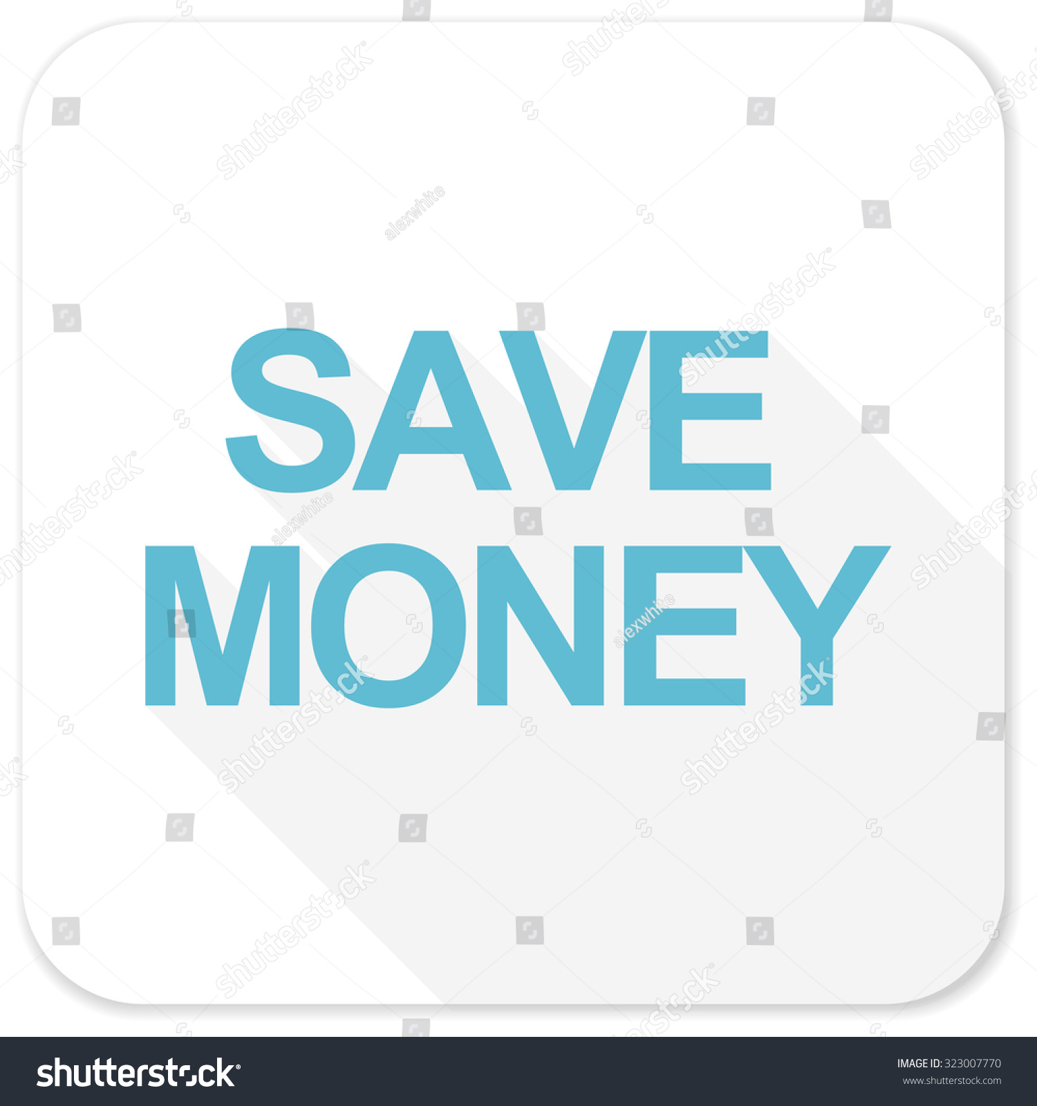 Save Money Blue Flat I...