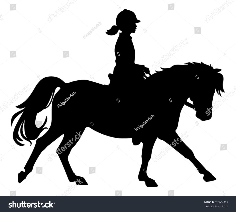 clip art girl riding horse - photo #49