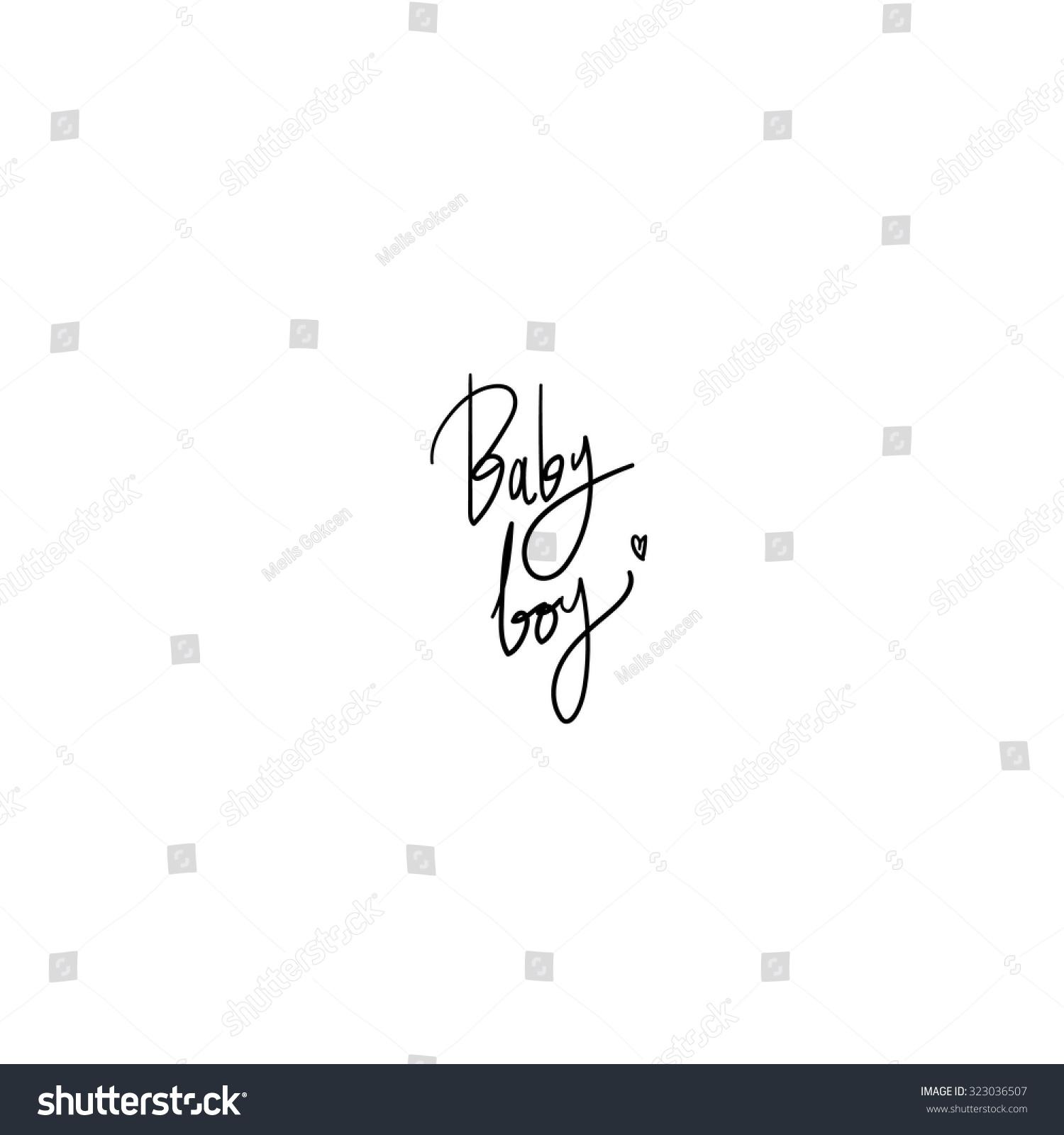 Baby boy hand written vector text stock