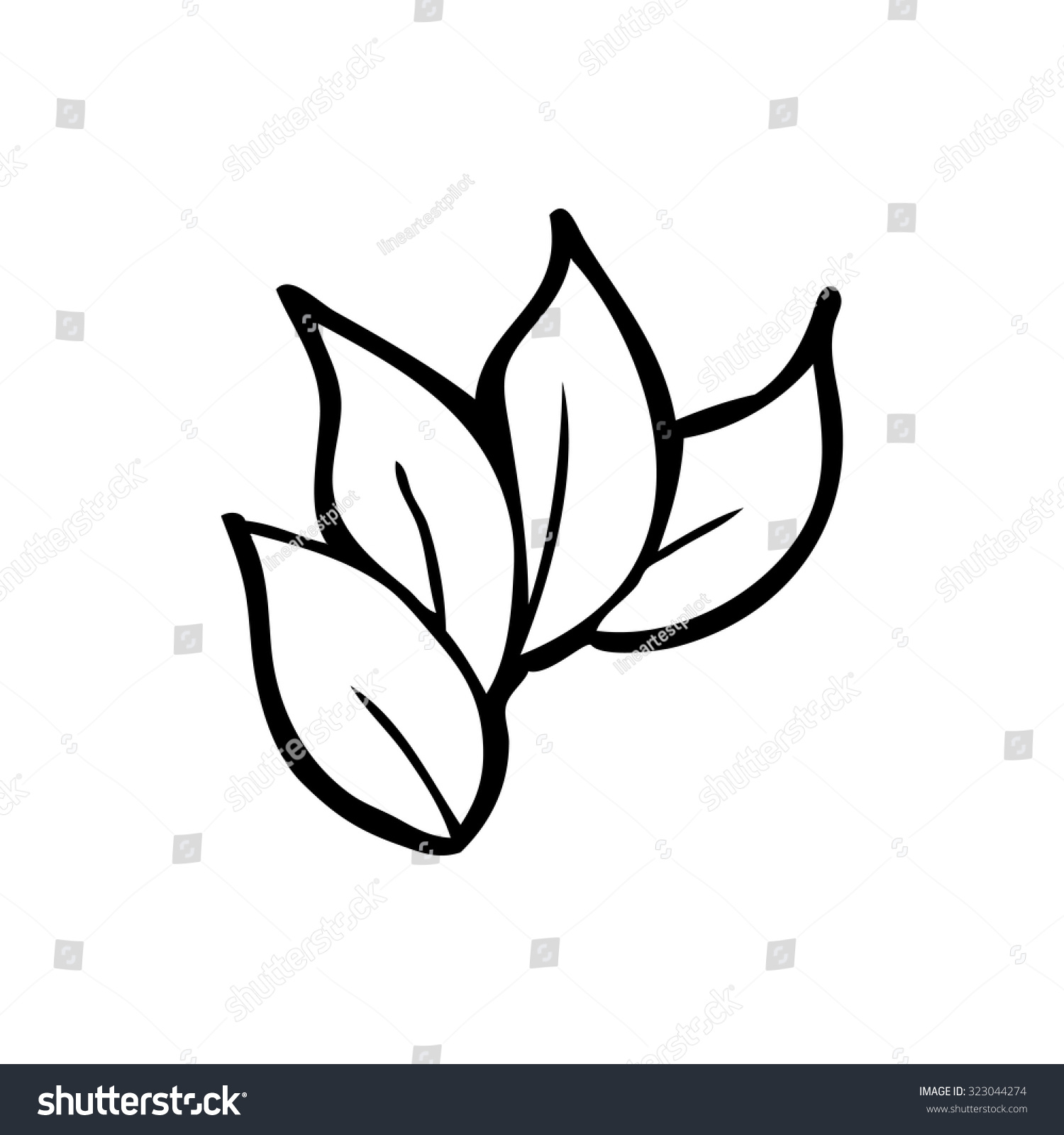 Simple Black White Line Drawing Cartoon Stock Vector ...