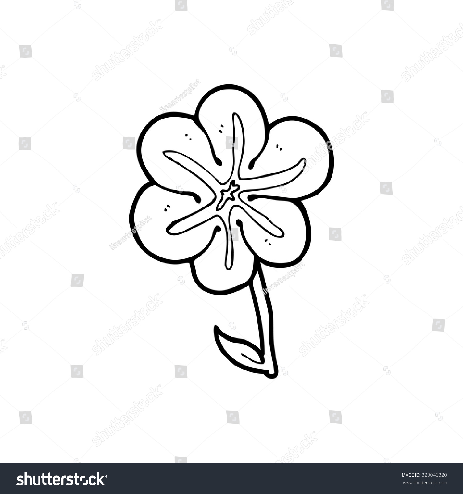 Cartoon Flower Line Drawing : Cartoon flowers black and white simple