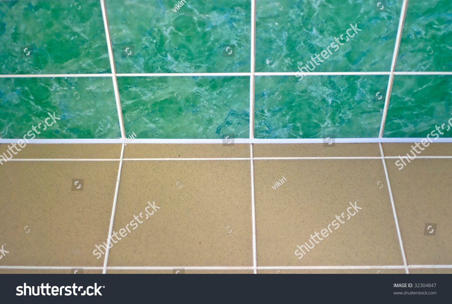 Ceramic Tile Floor Brown Green Color Stock Photo (Edit Now) 32304847 ...