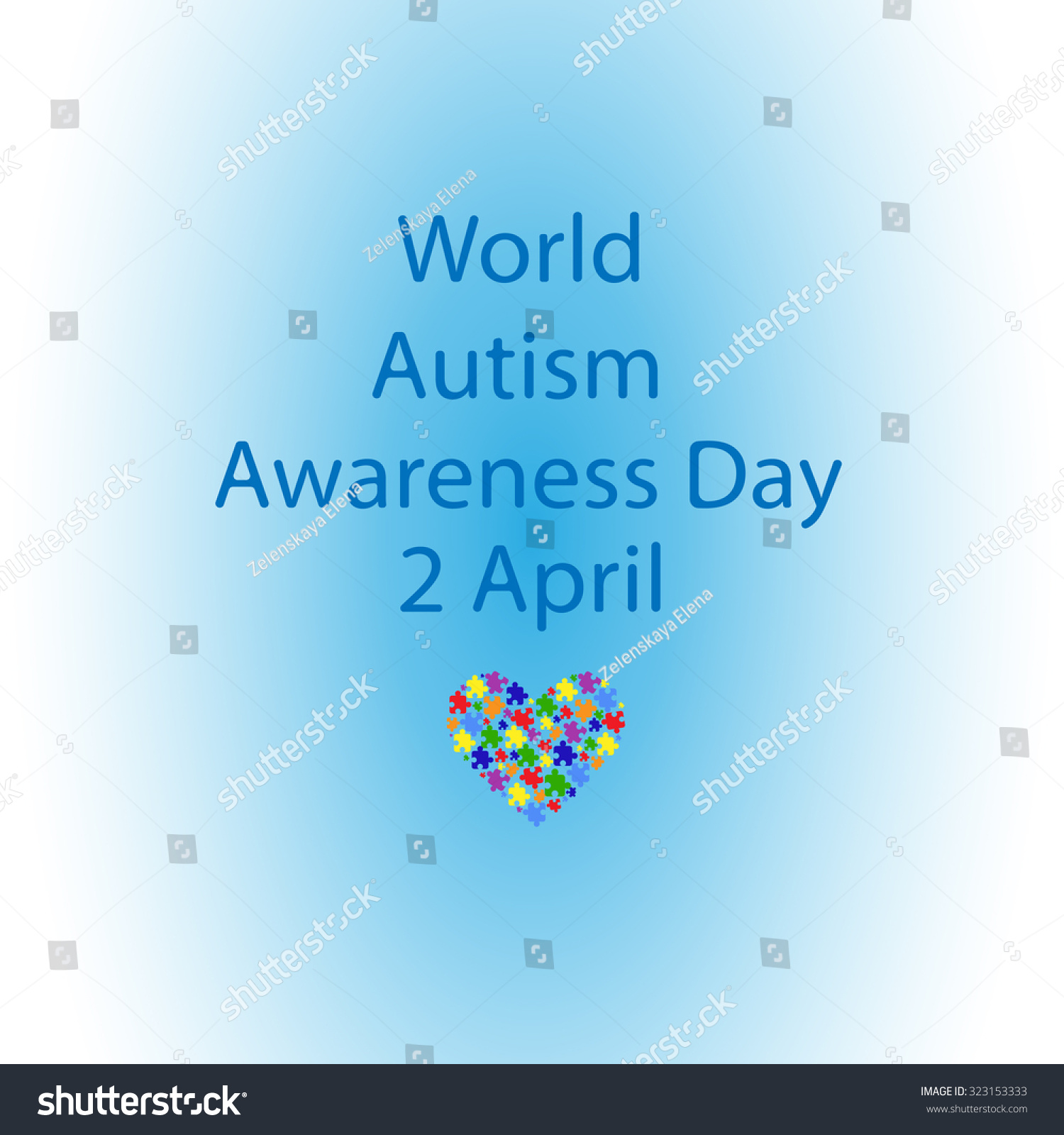 Blue sky inscription world day autism stock vector 323153333 blue sky inscription world day autism stock vector 323153333 shutterstock biocorpaavc