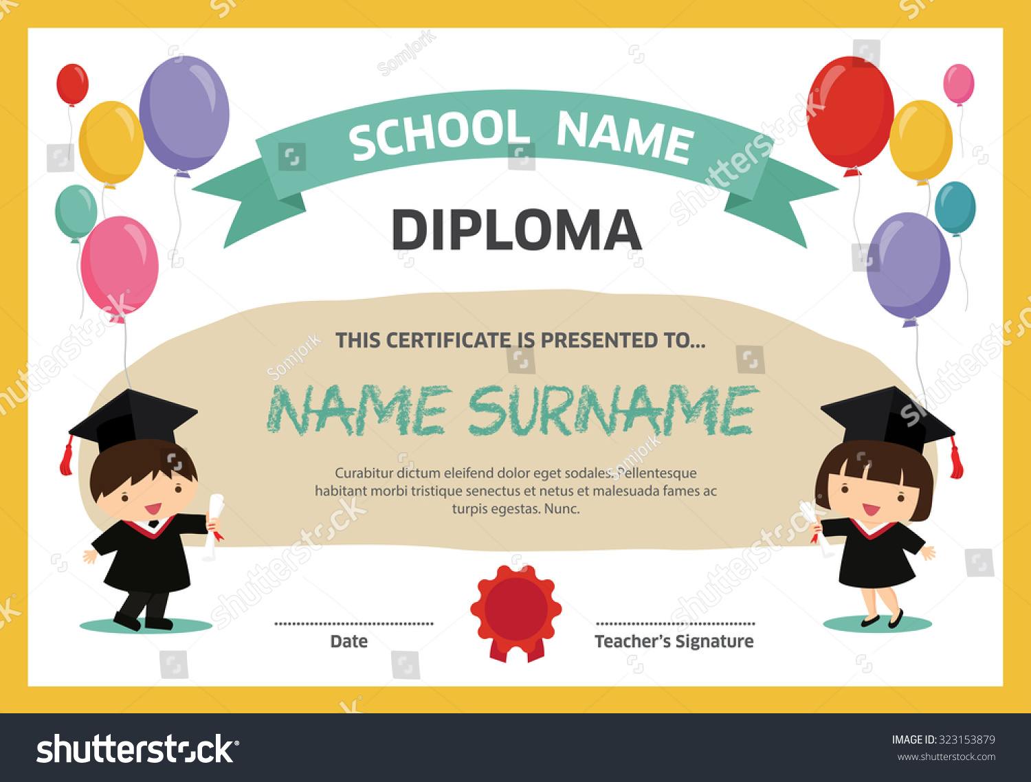 Preschool graduation diploma template images template for Military recall roster template