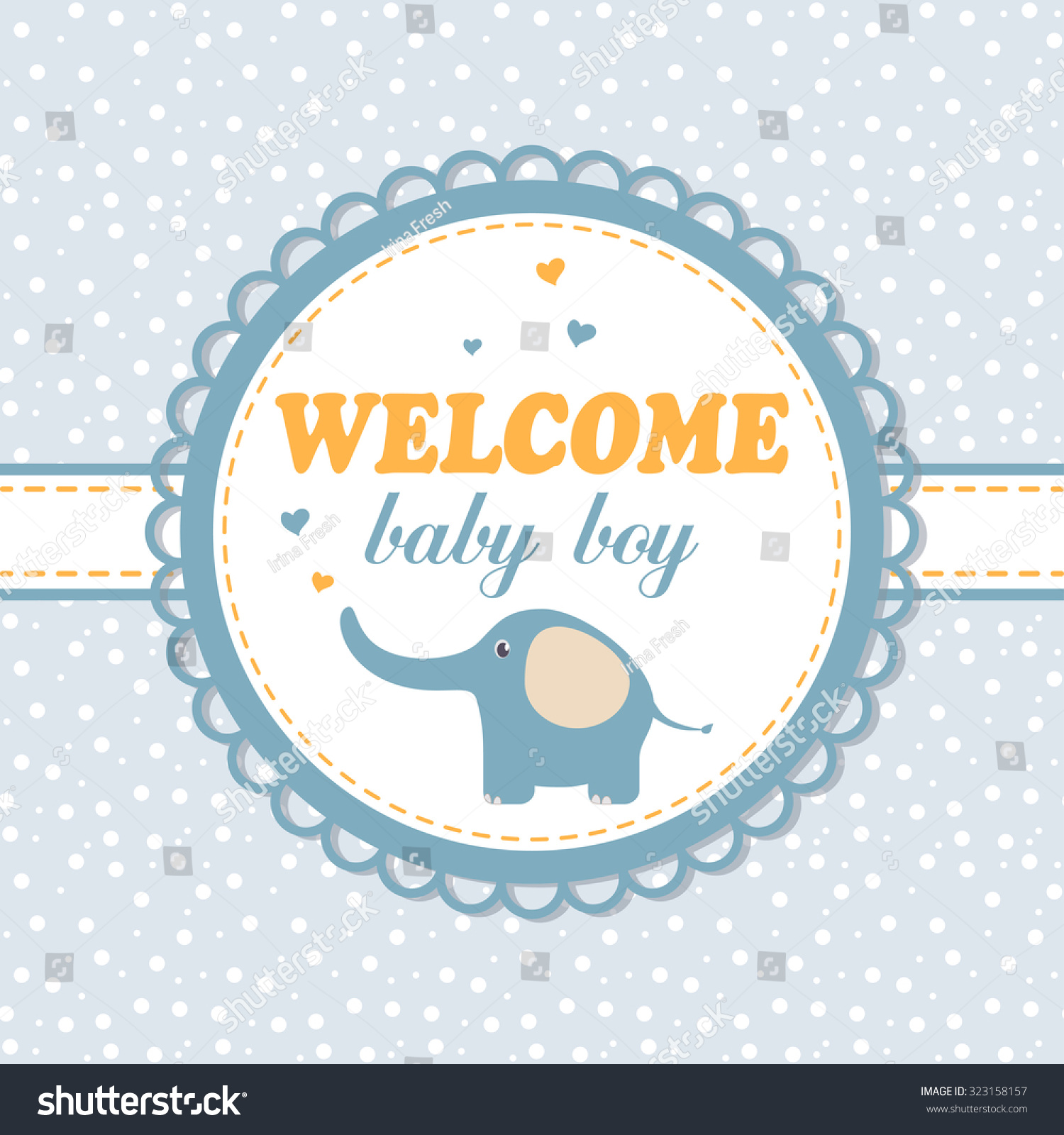 baby shower place cards template - delicate baby arrival card invitation or boy baby shower