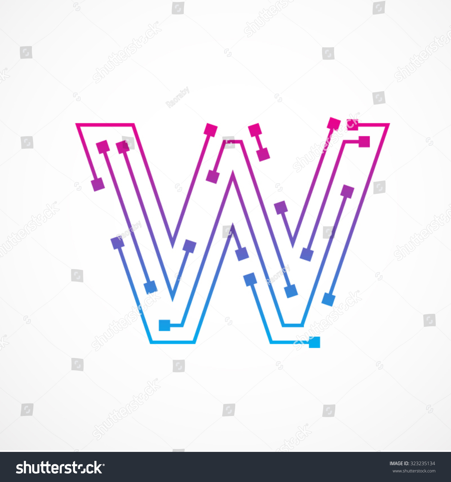 Abstract letter ...W Logo Design Vector