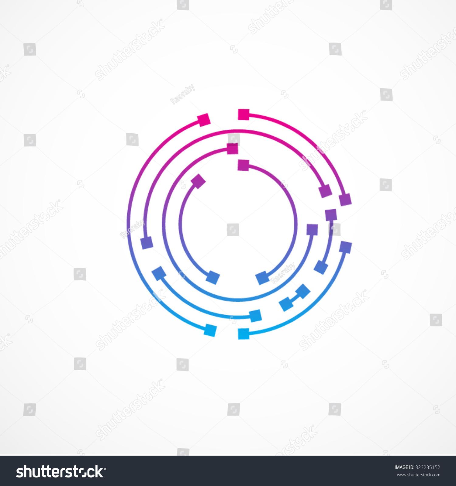 letter O logo design template,technology,electronics,digital,dot ...