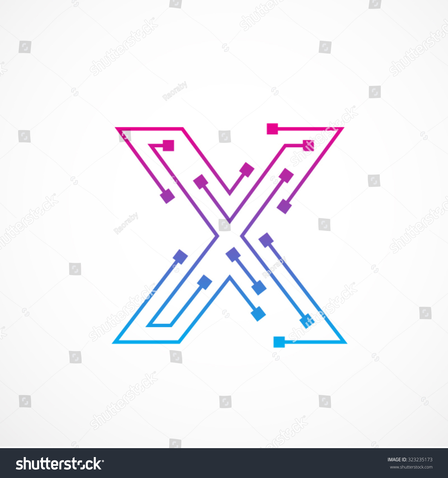 Abstract Letter X Logo Design ...
