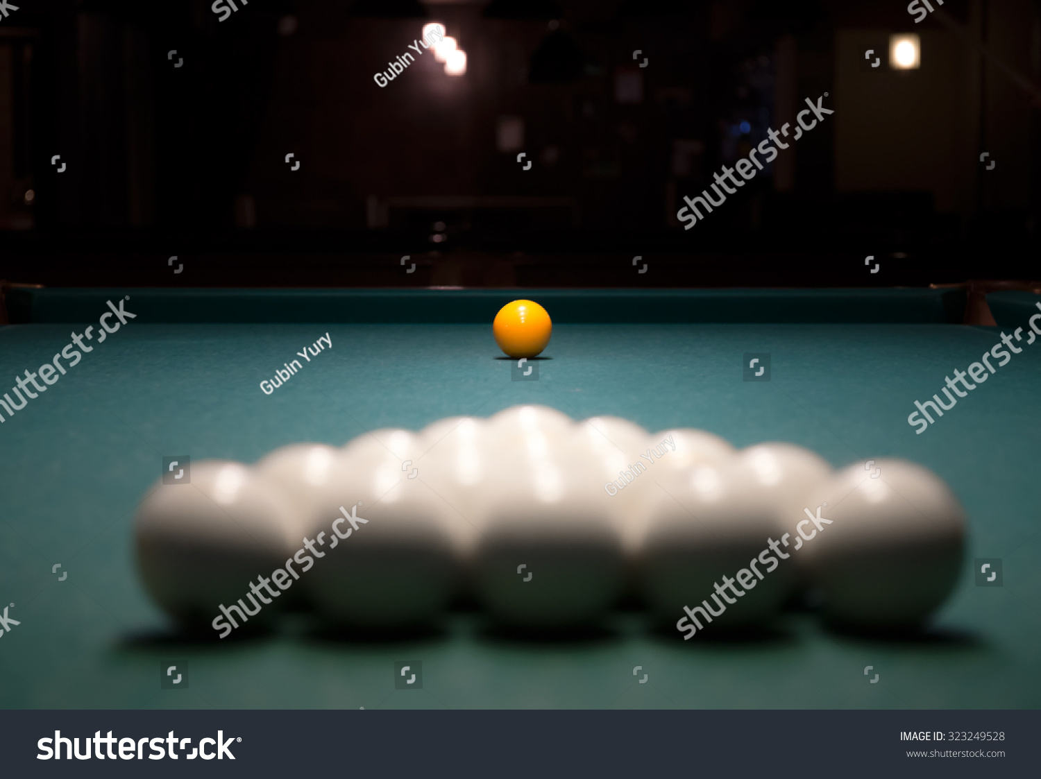 Balls On Table Billiard Game Called Stock Photo (Edit Now