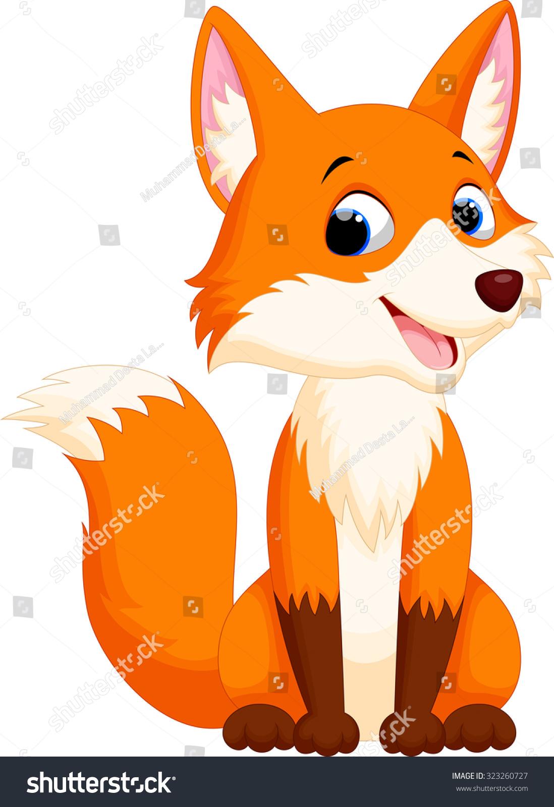 Cute cartoon fox face - photo#10