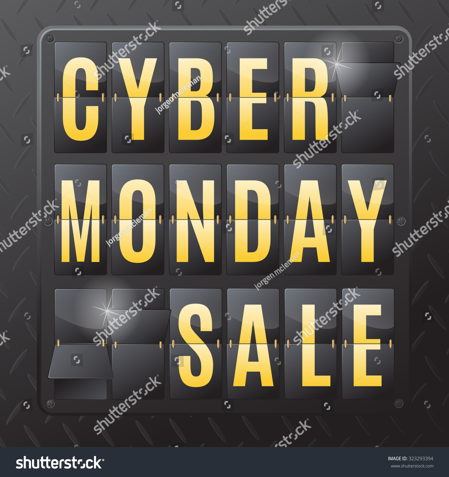 Cyber Monday Day Following Thanksgiving Day Stock Illustration 323293394