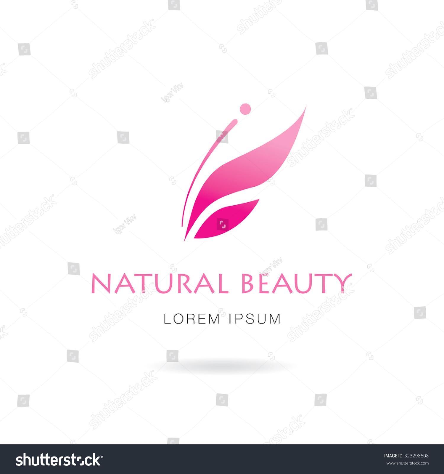 natural beauty logo design stock vector 323298608