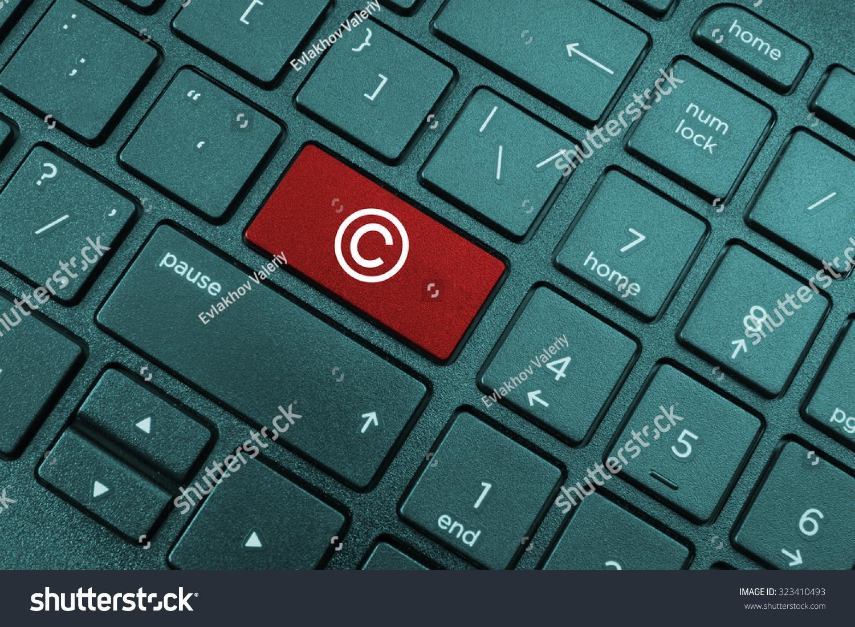 Computer Keyboard Copyright Symbol Stock Photo Edit Now 323410493