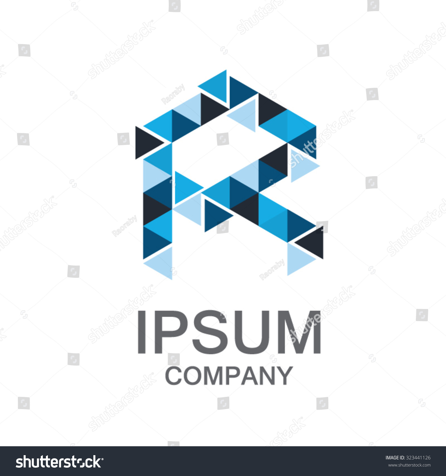 Letter R Logobusiness Corporate Logo Design Stock Vector 323441126 ...