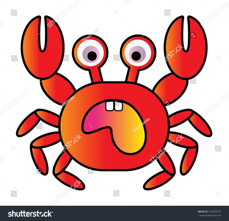 red color crab vector cartoon stock vector 323449373 shutterstock