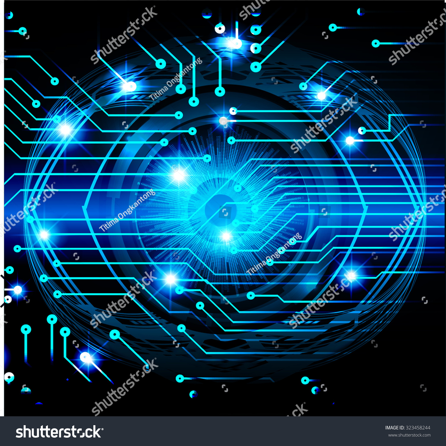 website colors neon : Dark Blue Color Light Abstract Technology Background For Computer Graphic Website Internet And Business Circuit