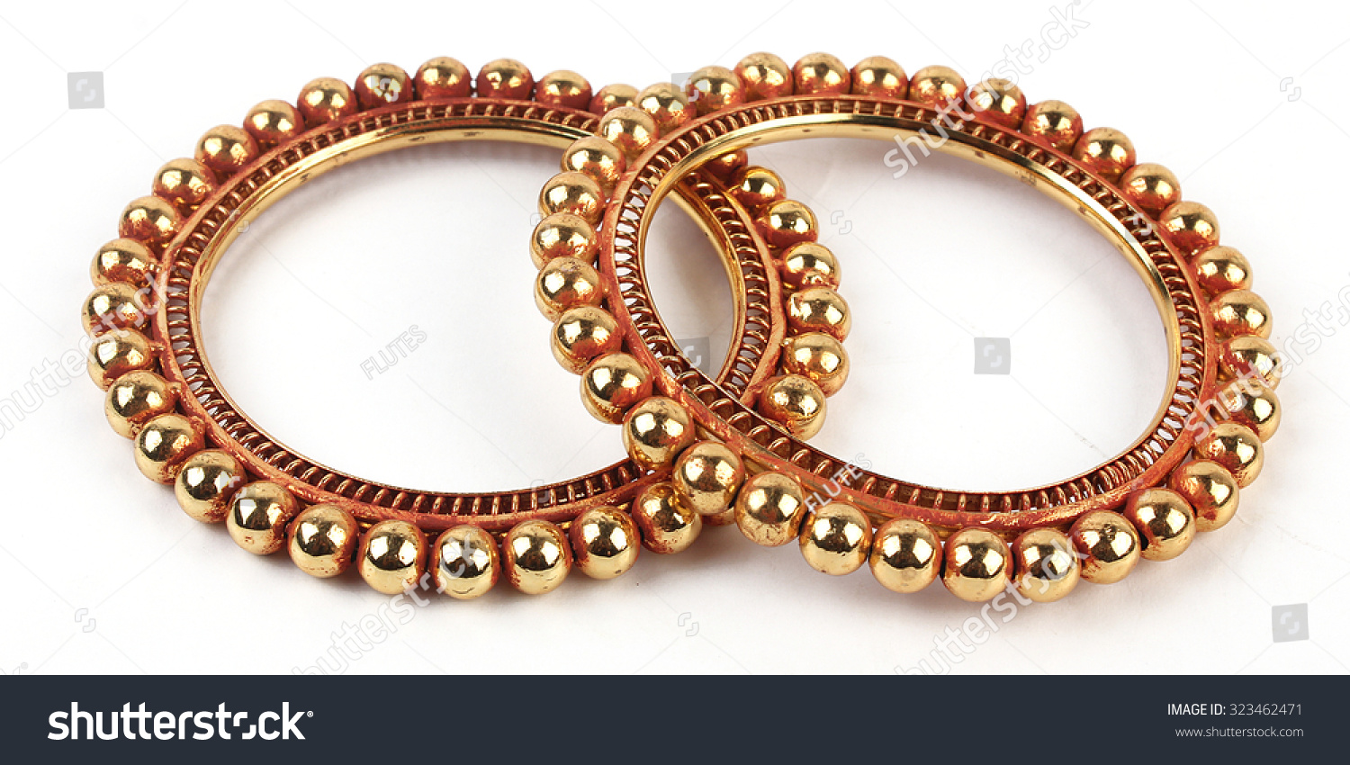 Traditional Indian Gold Bangles Stock Photo 323462471 - Shutterstock