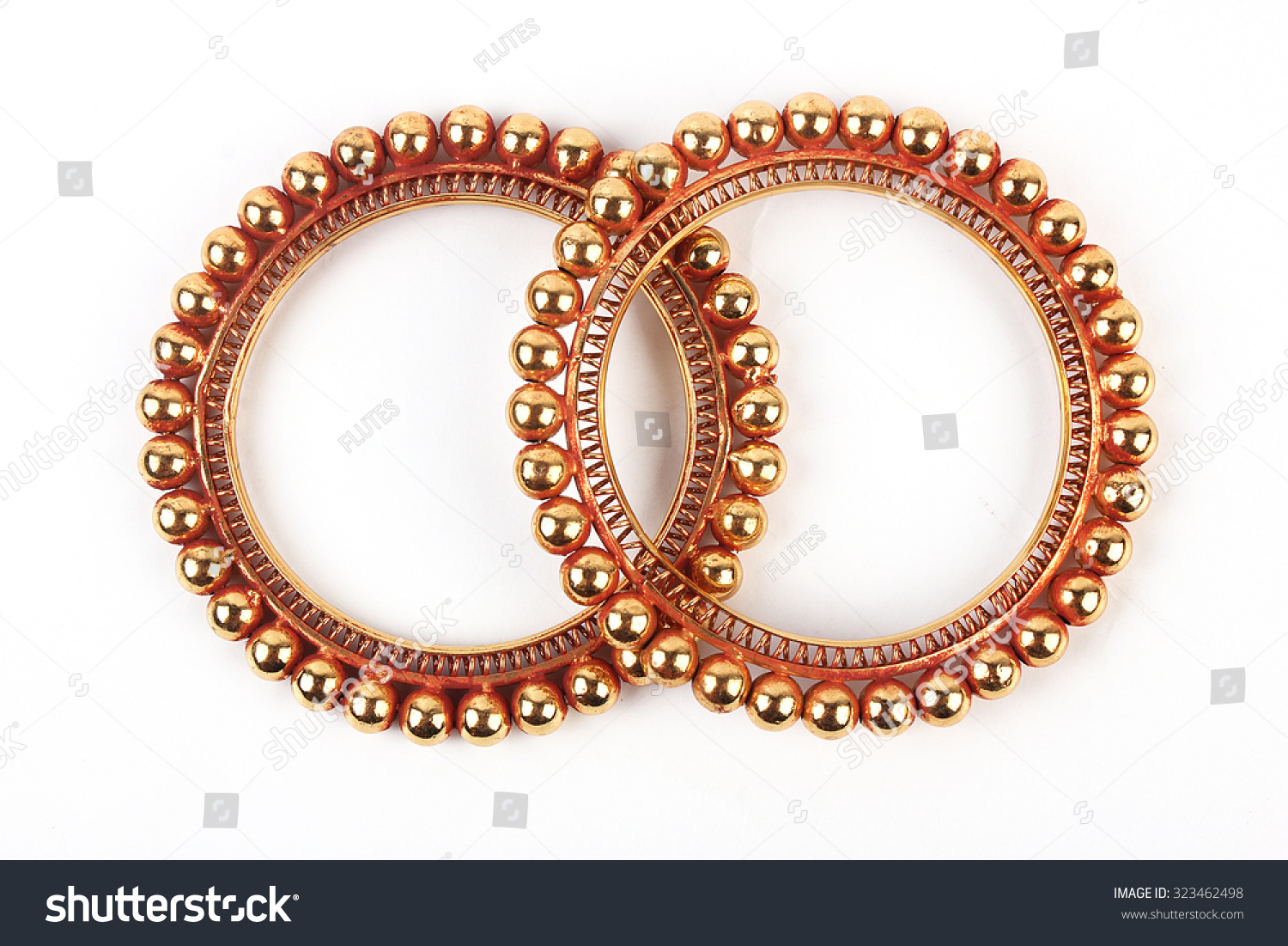 Traditional Indian Gold Bangles Stock Photo 323462498 - Shutterstock