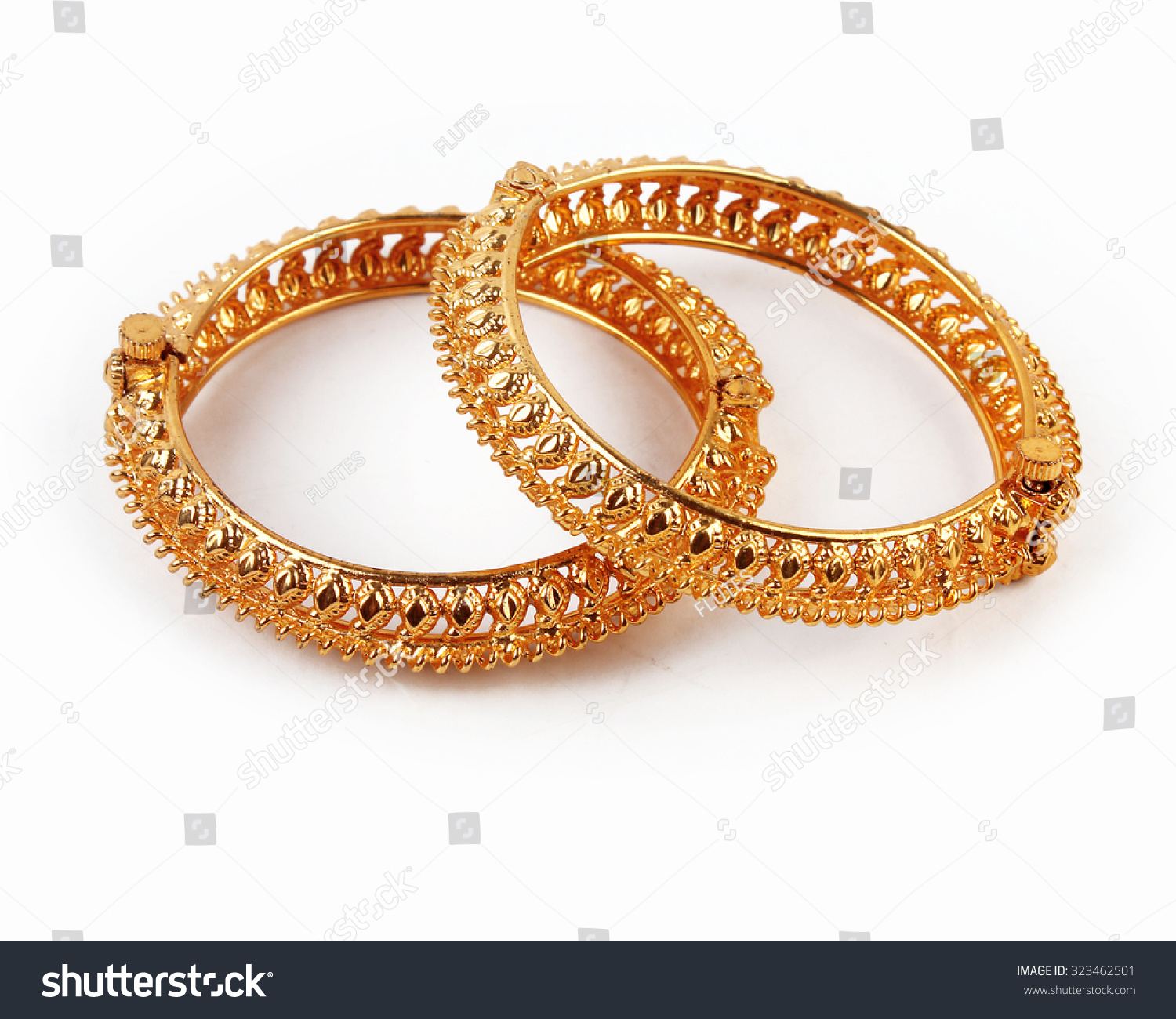 Royalty-free Traditional Indian Gold Bangles #323462501 Stock ...