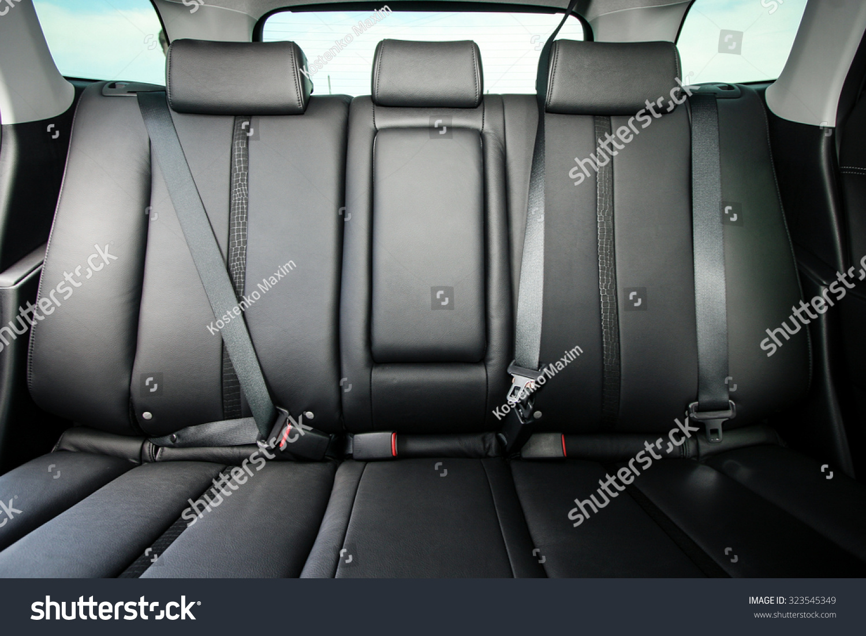 back passenger seats in modern comfortable car stock photo 323545349 shutterstock. Black Bedroom Furniture Sets. Home Design Ideas