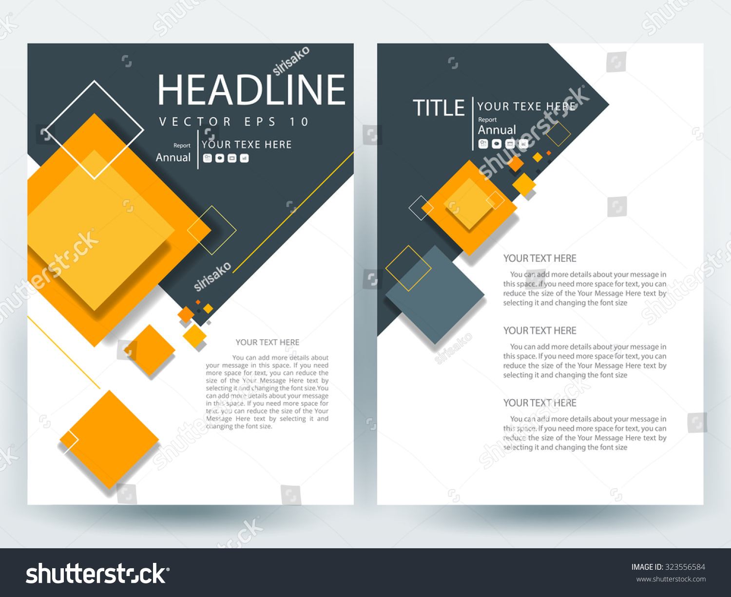 Royalty Free Abstract Vector Modern Flyers Brochure 323556584