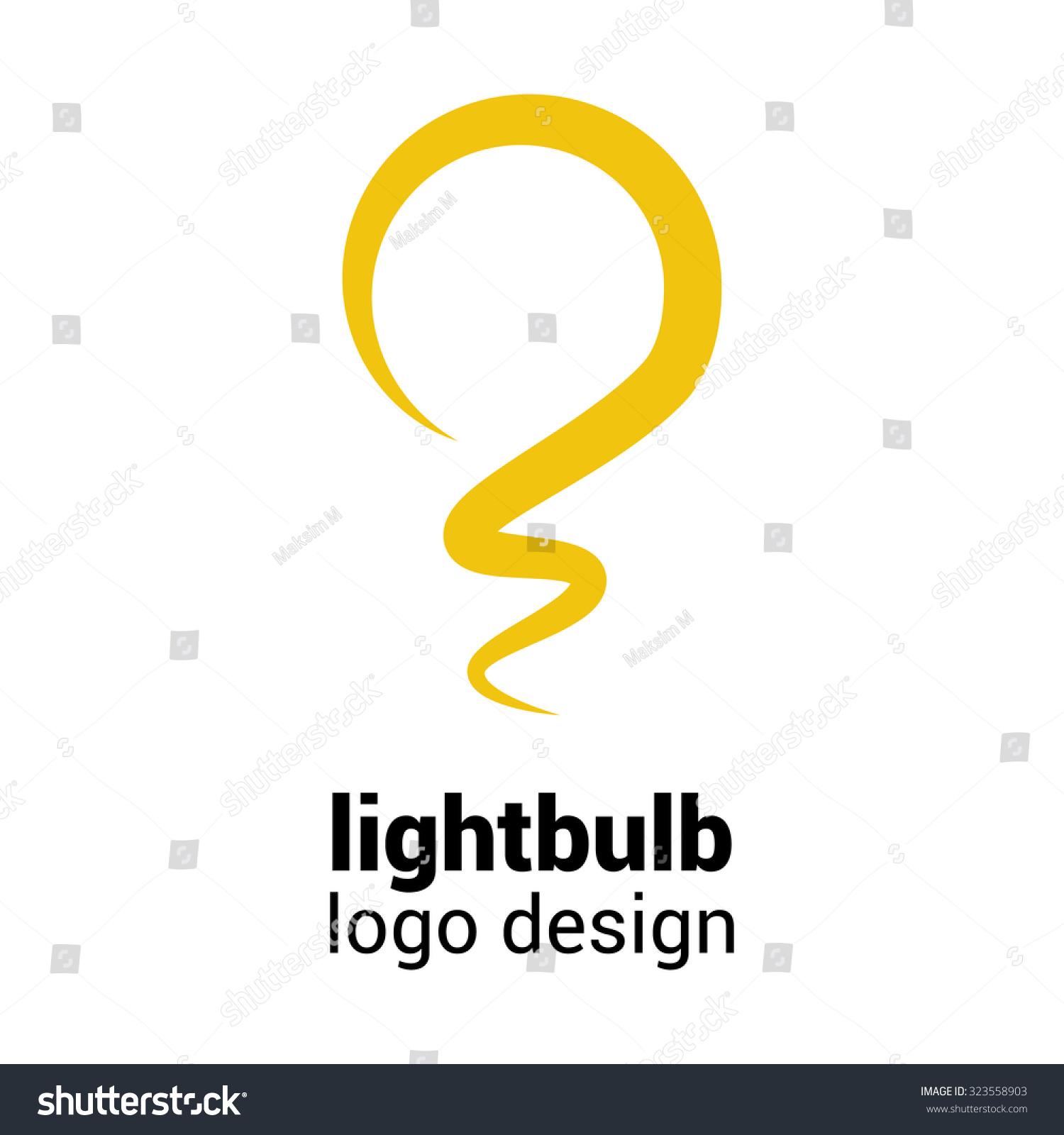 lightbulb logo template lightbulb icon abstract lager