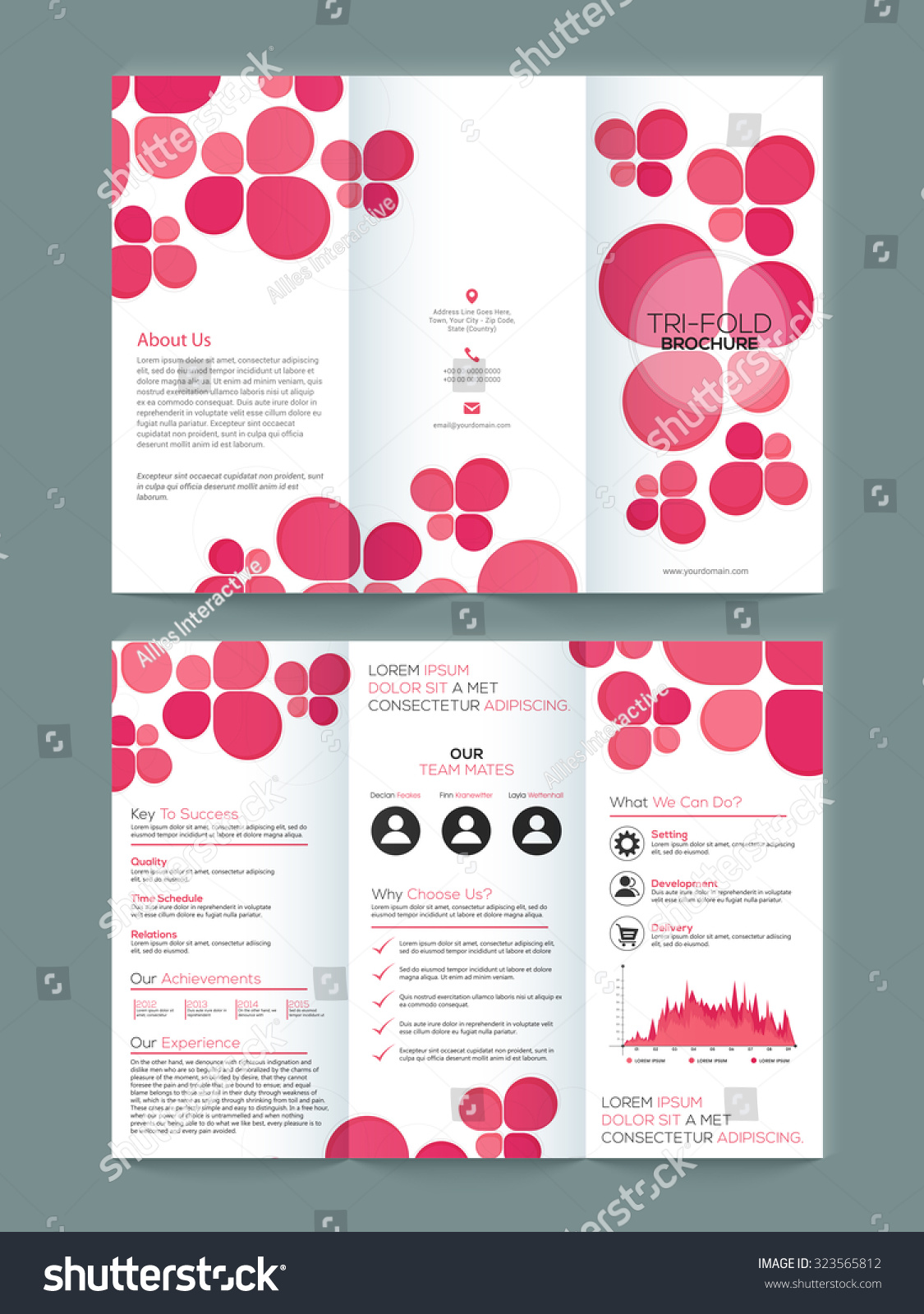 two page brochure template - creative two page business trifold brochure flyer