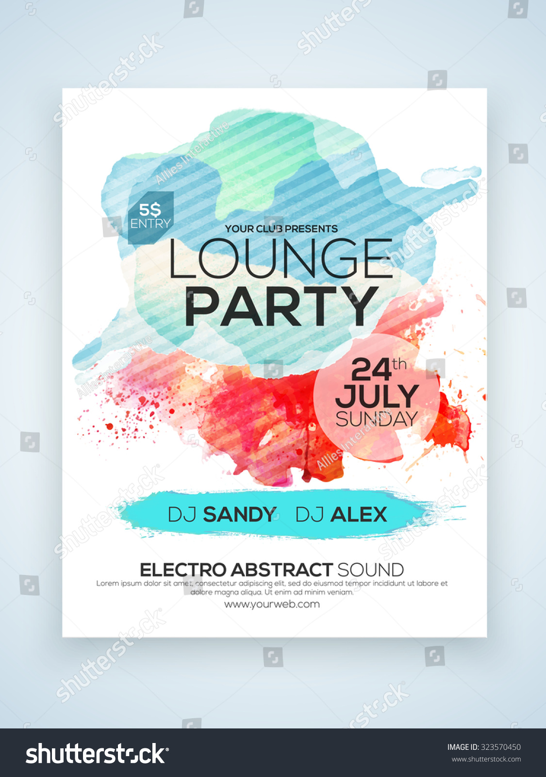 Creative Stylish One Page Flyer Banner Stock Vector 323570450 ...