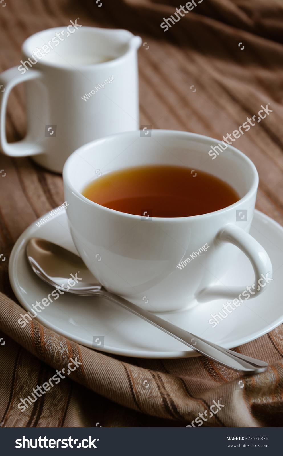 Cup Tea Milk Relax On Tea Stock Photo (Edit Now) 323576876