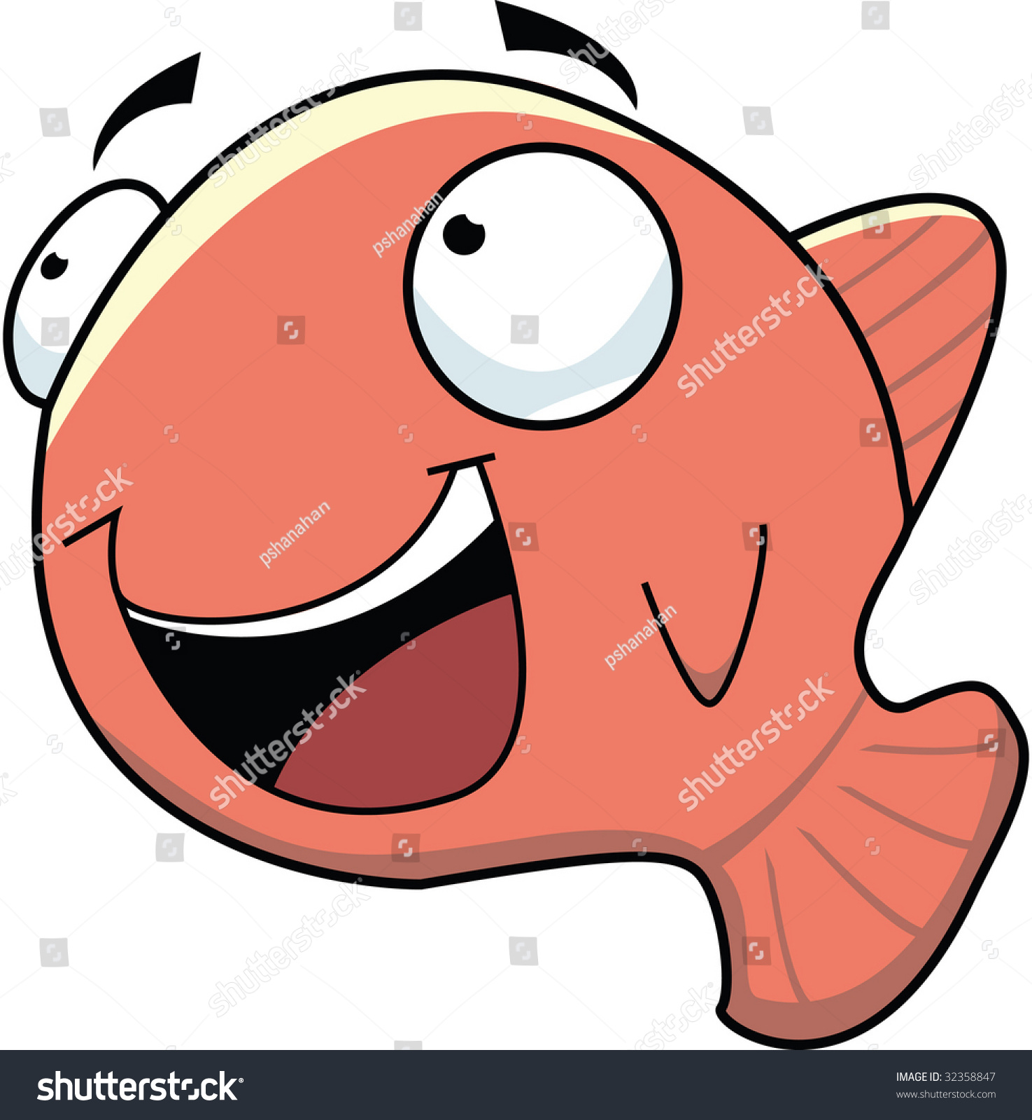 Clip Art Vector Image Of A Goldfish - 32358847 : Shutterstock