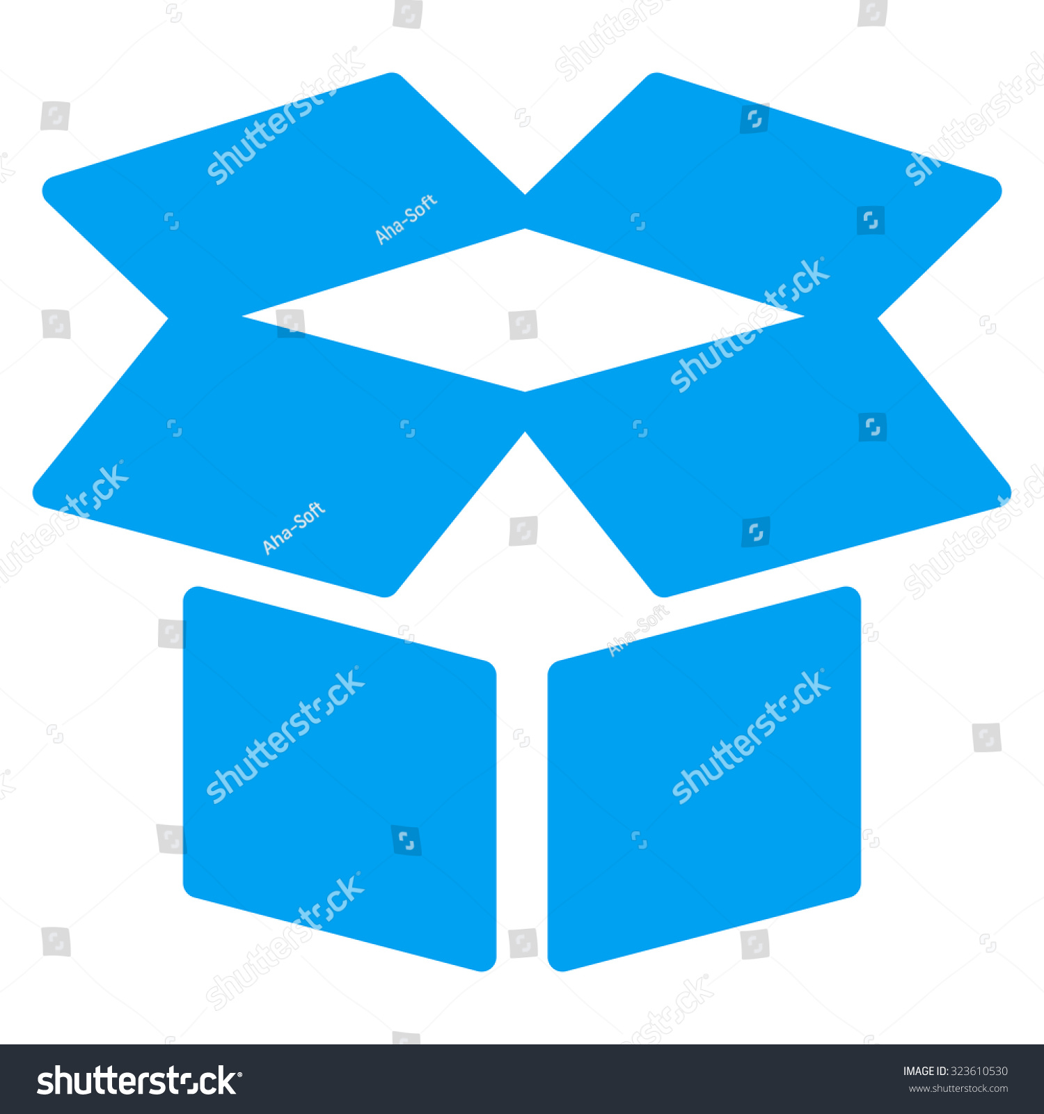 Open Box Vector Icon Style Flat Stock Vector 323610530 Shutterstock