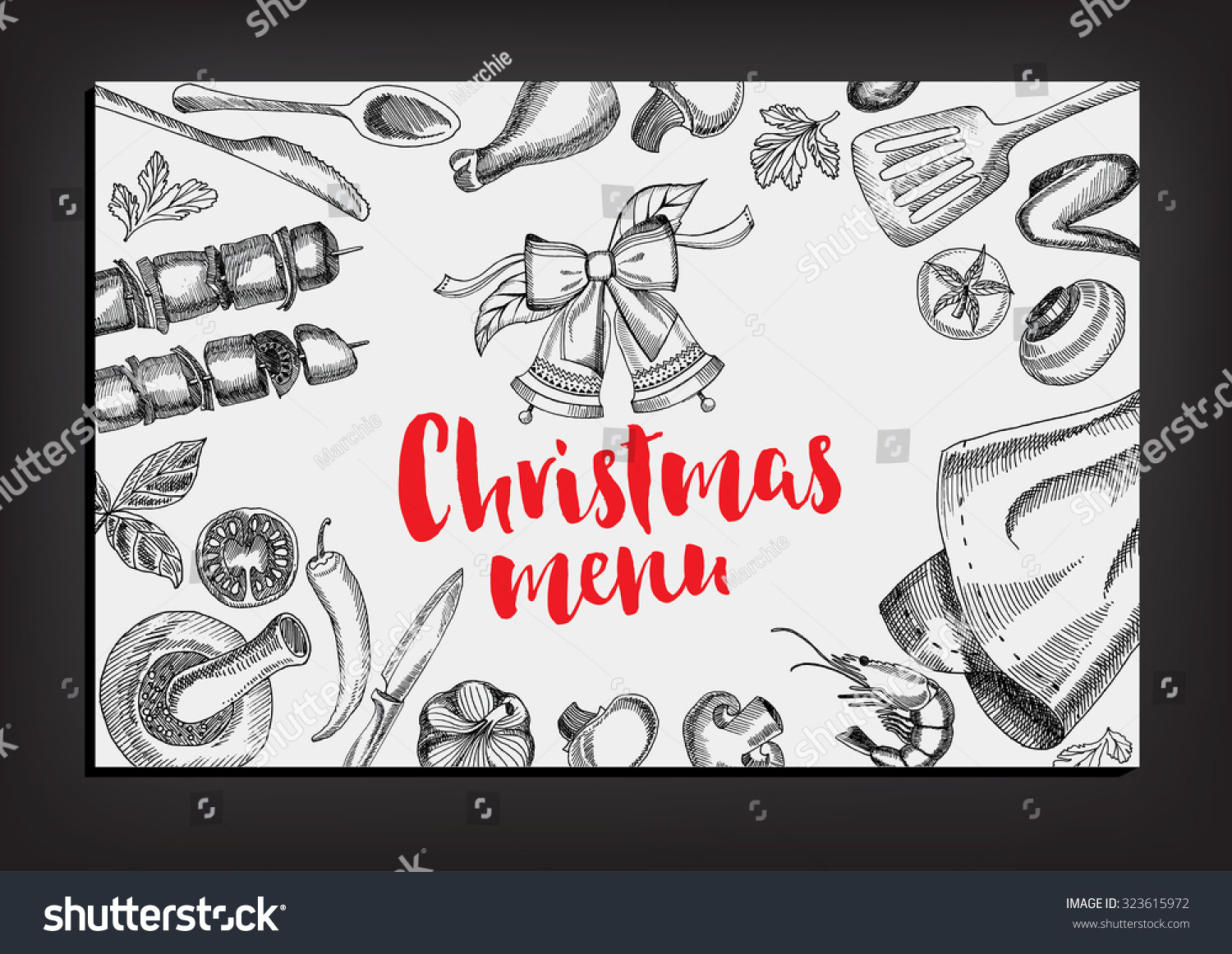 Christmas party invitation restaurant menu design stock vector christmas party invitation restaurant menu design stock vector 323615972 shutterstock stopboris Image collections