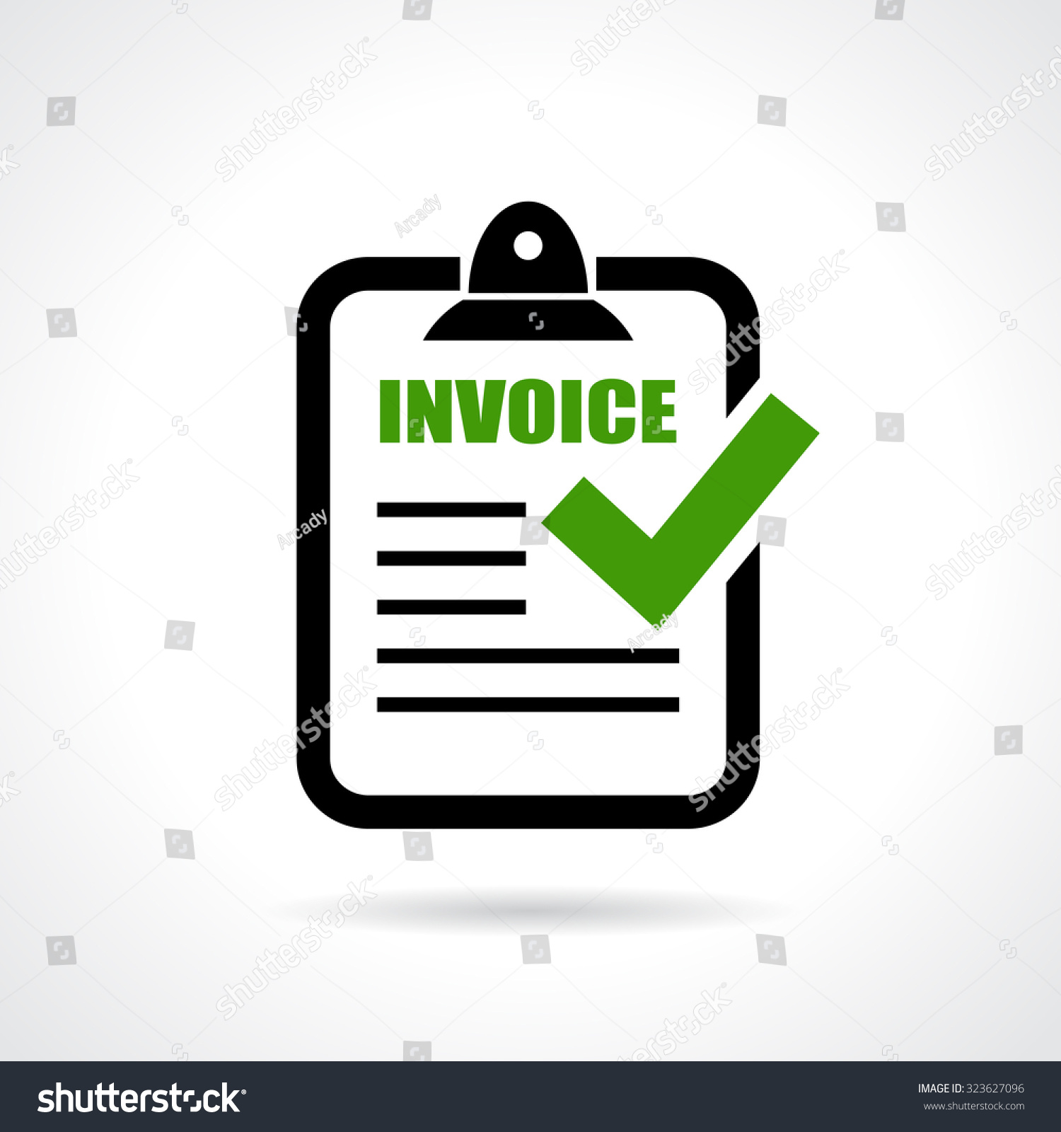 invoice icon stock vector 323627096 shutterstock. Black Bedroom Furniture Sets. Home Design Ideas