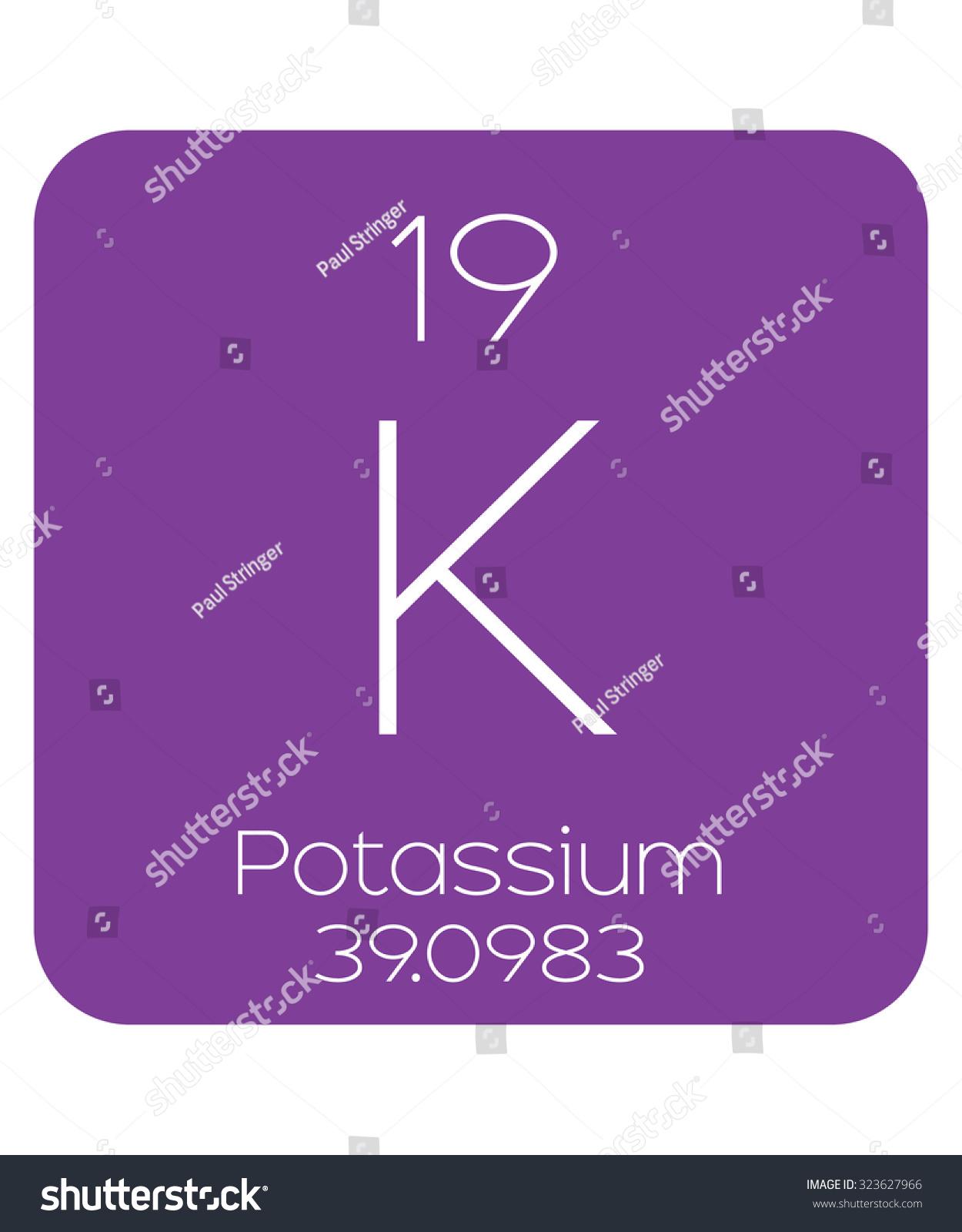 Periodic Table Elements Potassium Stock Vector