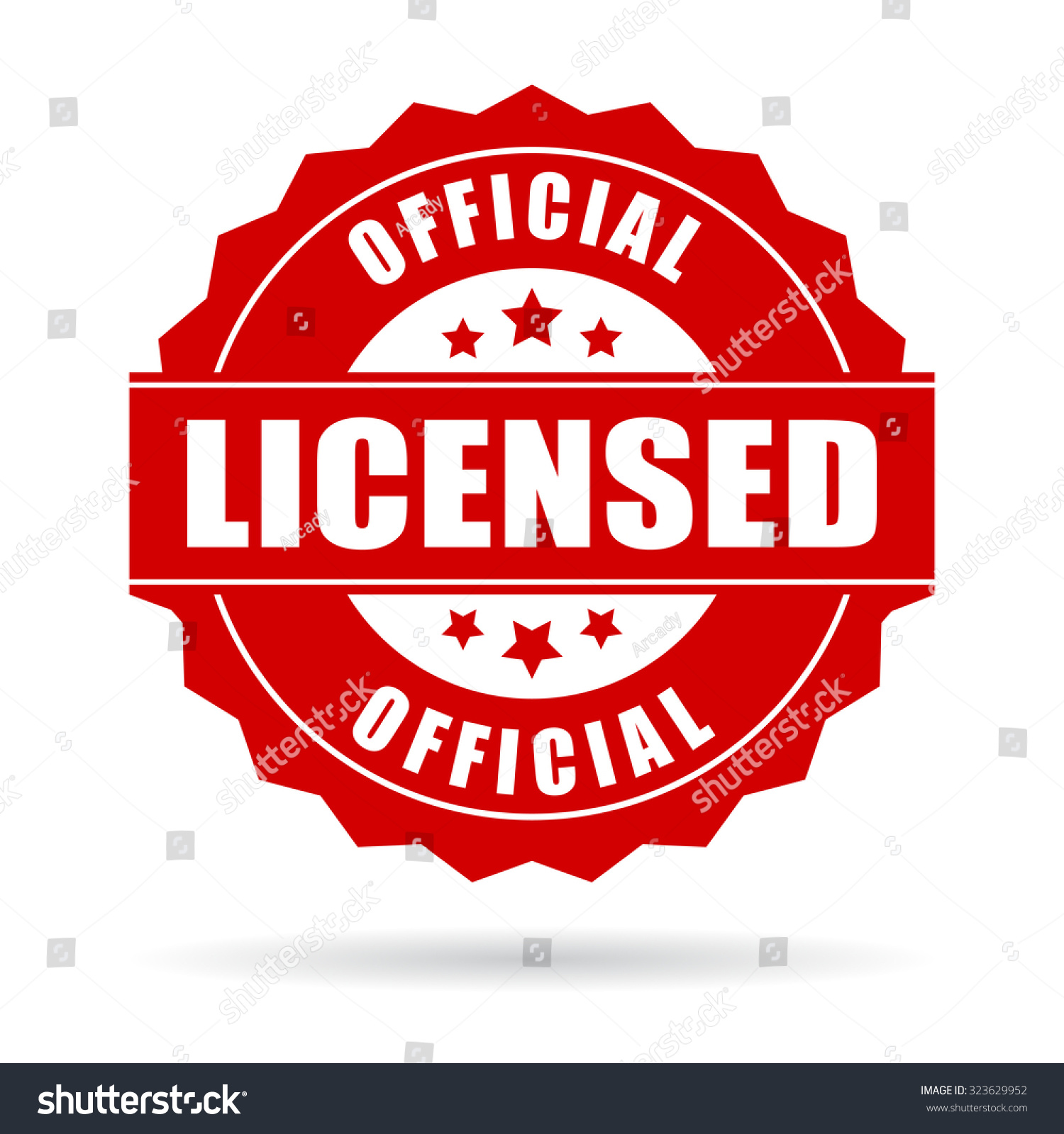 official licensed icon stock vector 323629952 shutterstock