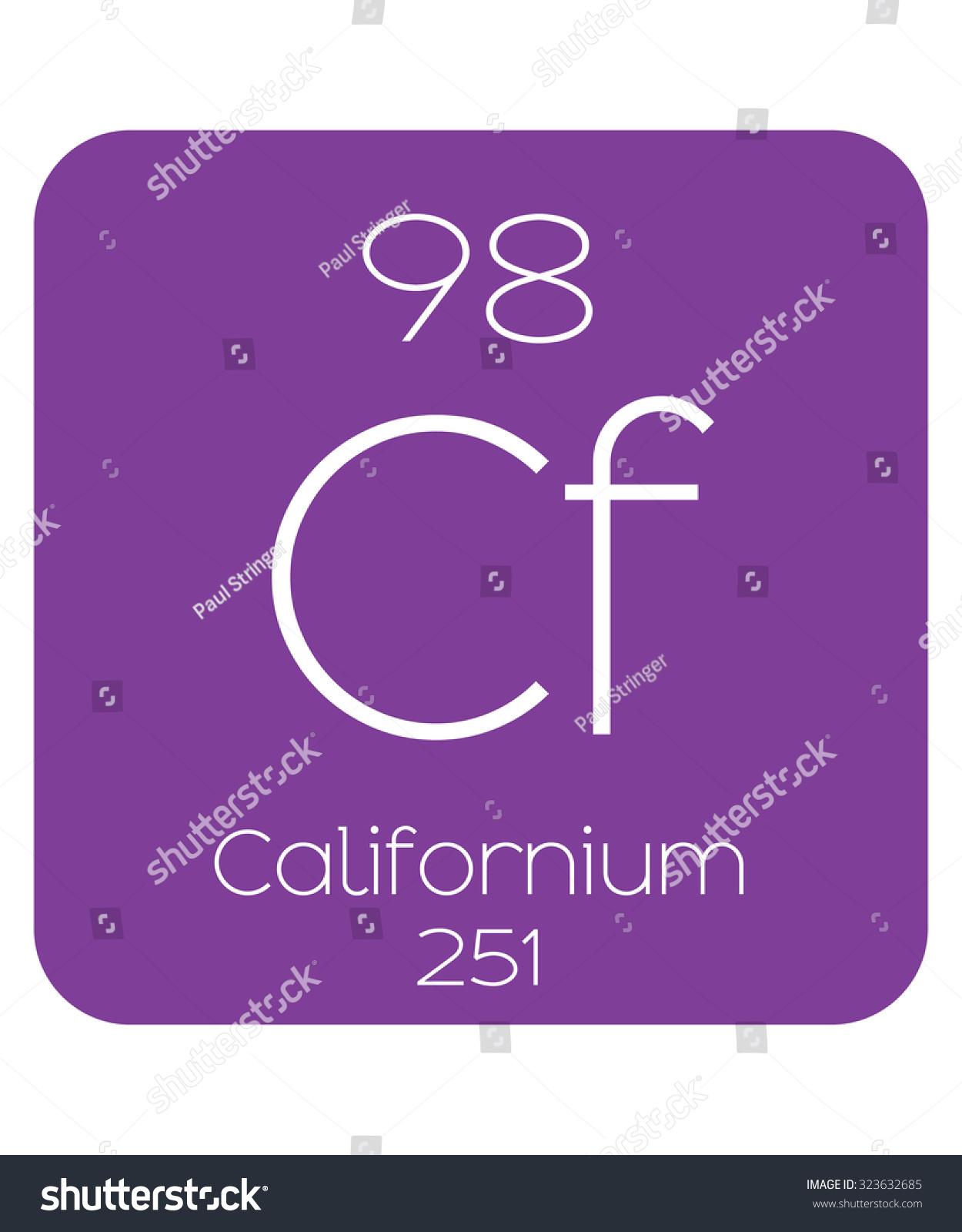 Periodic table elements californium stock vector 323632685 the periodic table of the elements californium gamestrikefo Images
