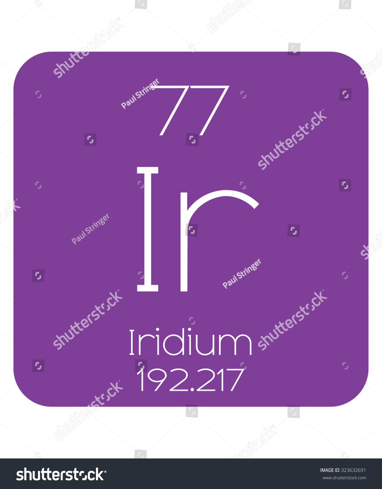 Periodic table elements iridium stock vector 323632691 shutterstock the periodic table of the elements iridium gamestrikefo Gallery
